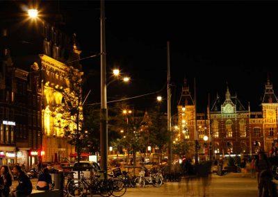 Amsterdam Lights Train station of Amsterdam