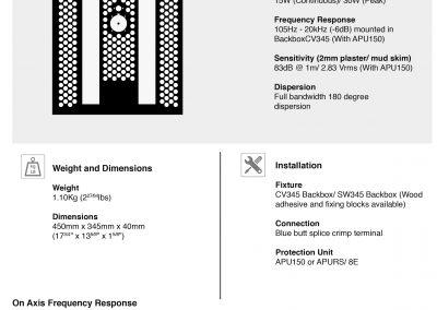 AIW150 In wall speaker data sheet