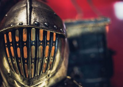 Muiderslot medieval helmet